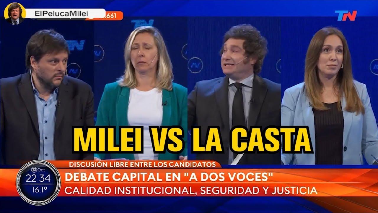 Download MILEI CONTRA TODOS EN EL DEBATE 13/10/2021
