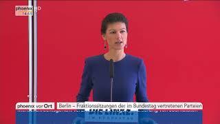 Fraktionssitzungen: Statement der Linken von Sahra Wagenknecht vom 20.03.2018