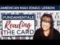 American Mah Jongg Fundamentals 5 Reading the Card (mock card)