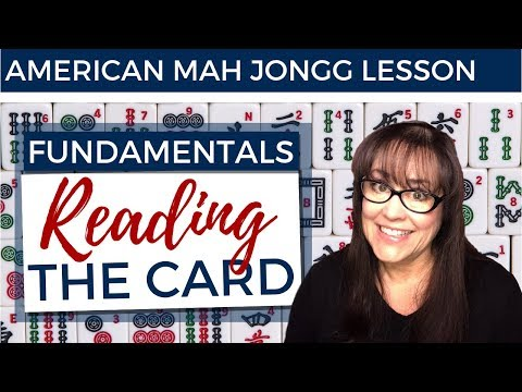 American Mah Jongg Lesson Fundamentals 5 Reading The Card (mock Card)