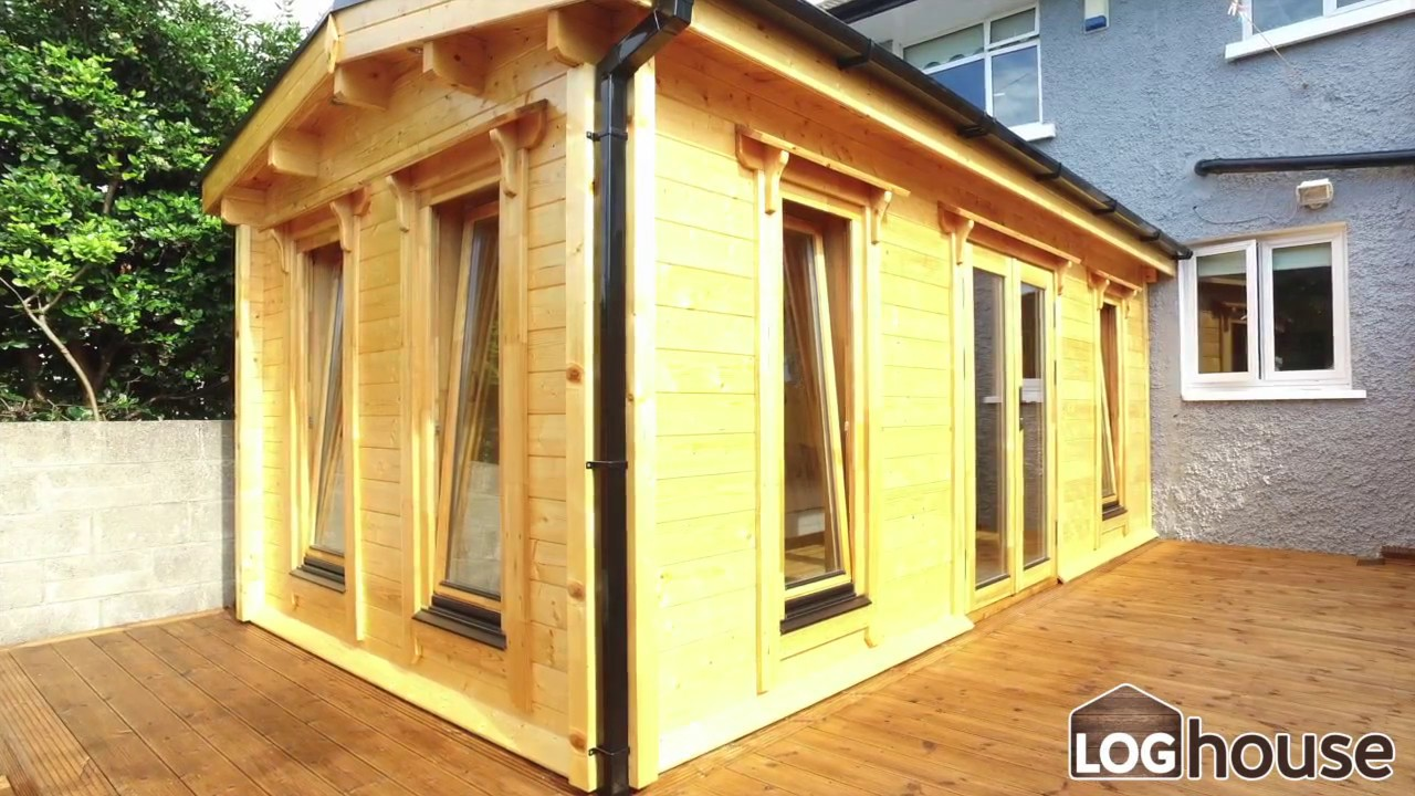 log cabin extension youtube