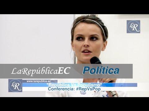 Gloria Álvarez - República vs. Populismo | La República EC de YouTube · Alta definición · Duración:  1 hora 31 minutos 36 segundos  · Más de 488.000 vistas · cargado el 01.05.2015 · cargado por La República EC