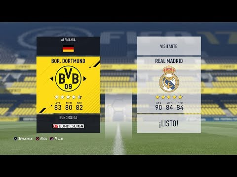 B.DORTMUND VS R.MADRID JORN.2 CHAMPIONS LEAGUE   FIFA 17