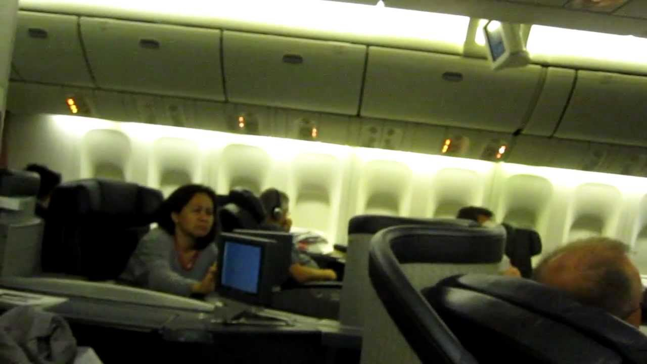 Aa 154 Nrt To Ord On 777 200 First Class Youtube