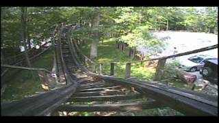 Rolo Coaster Wooden Roller Coaster POV Idlewild Amusement Park PA Classic Woodie