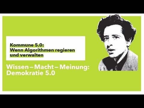 """Hannah-Arendt-Tage: """"Kommune 5.0: Wenn Algorithmen regieren und verwalten"""""""