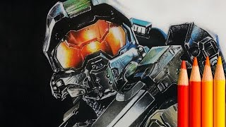 Drawing the Master Chief from HALO