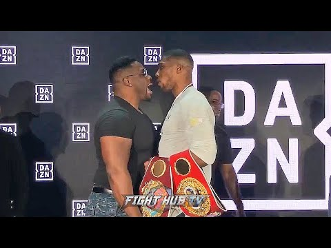 ANTHONY JOSHUA GOES AFTER BIG BA MILLER AFTER TRASH TALK IN NEW YORK! FIGHTERS GO BACK & FORTH!