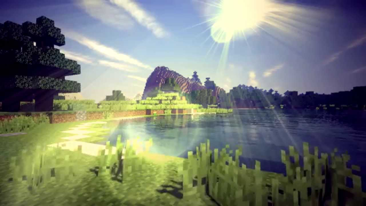 minecraft animation loop  1 - lake sunny day
