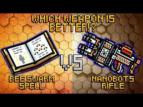 Pixel Gun 3D - Bee Swarm Spell VS Nanobots Rifle