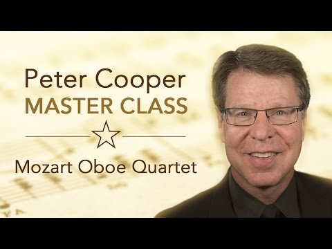 Master Class with Peter Cooper | Mozart Oboe Quartet