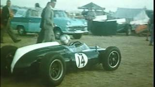 Motor racing at Longford in 1961 - Bikes and Cars (no sound)