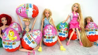 Big Kinder Surprise EASTER EGGS! Barbie Surprise Eggs Kejutan Telur!  Surpresa Ovos da páscoa!