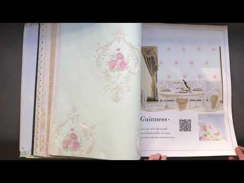A47-7 Fashion Design Floral Pattern Non-Woven Embossed Decorative Wallpaper