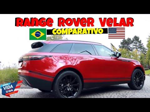 Range Rover VELAR Brasil Vs USA - Comparativo