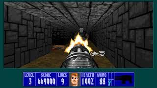 (Wolfenstein 3D) Operation Wasserstein (ECWolf) - Floor 3 100%