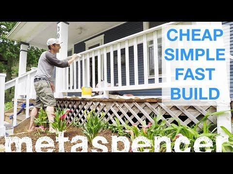 Simple Porch Railing Build