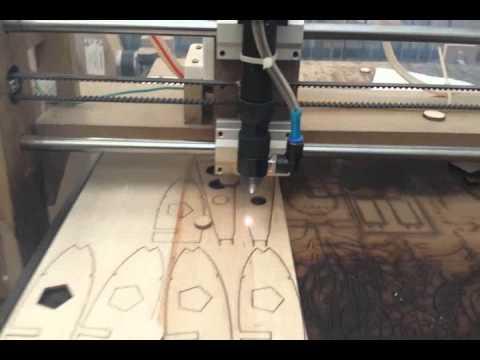 Home Made Co2 Laser 40w Wing Balsa Cut Cnc Usbcnc
