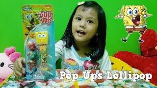 Permen Lollipops Spongebob with Pop Ups Holder