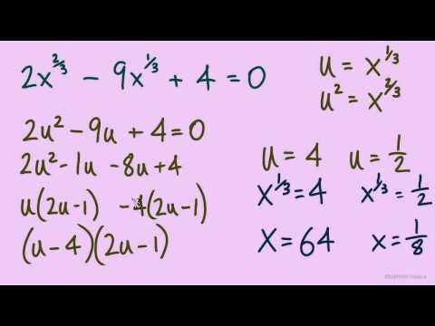 Solving Equations In Quadratic Form