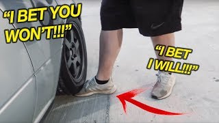What happens if you run over your foot with a car?