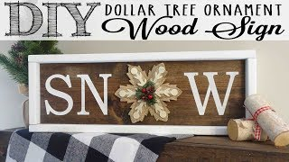 DIY Dollar Tree Ornament Wood Sign