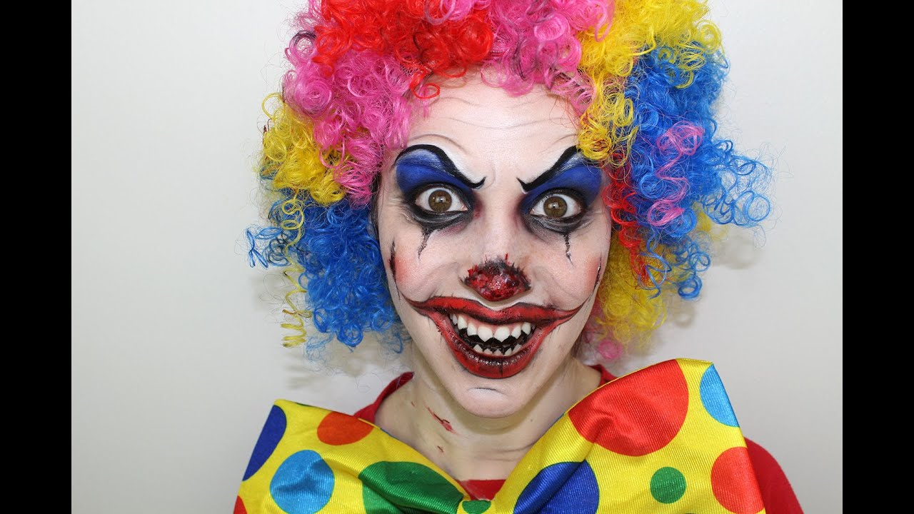 Maquillage d 39 halloween clown diabolique youtube - Maquillage halloween facile garcon ...