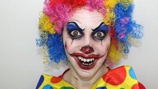 Maquillage d'Halloween : Clown diabolique