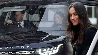 Prince Harry is teaching Markle how to drive on the left & work a manual gearbox
