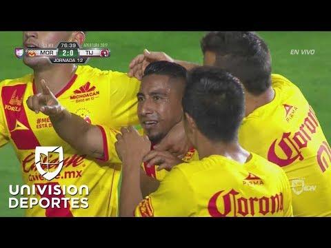 Golazo de Pipila Vilchis en el Monarca 3-0 Xolos