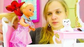 Игры для девочек: Штеффи примеряет платье Барби