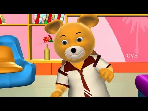 Teddy Bear Teddy Bear turn around - 3D Animation English Nursery rhyme song for children