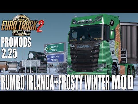Gameplay EURO TRUCK SIM 2 | DIRECTO | PROMODS 2.25 RUMBO IRLANDA + FROSTY WINTER MOD | ESPAÑOL