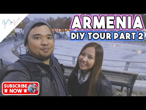 DOING CITY TOUR BY OURSELVES BY FOLLOWING A MAP! | Yerevan Armenia Day 1 Part 2 #jhayandmai