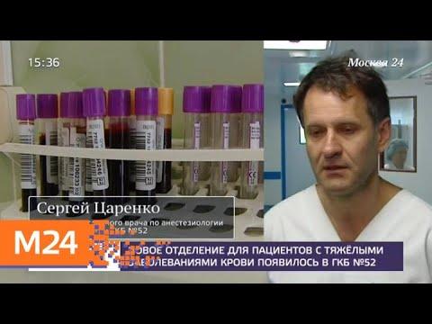 Новое отделение для пациентов с тяжелыми заболеваниями крови появилось в ГКБ №52 - Москва 24