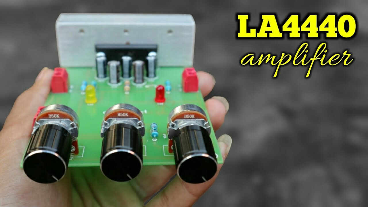 DIY 20 Watt Mono Audio Amplifier Board LA4440 IC - #cbz_project
