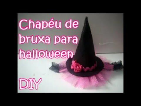 ca363e2f7da6e Como fazer chapéu de bruxa para halloween DIY - YouTube