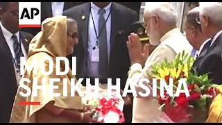 Modi welcomes Indonesia leader Hasina