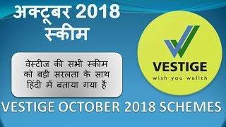वेस्टीज अक्टूबर 2018 स्कीम Consistency Scheme | Repurchase Scheme | Joining Scheme | Vestige Scheme