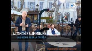 """Participation à l'émission """"Agora""""  France 3 sur l'autonomie alimentaire des territoires en Corse."""