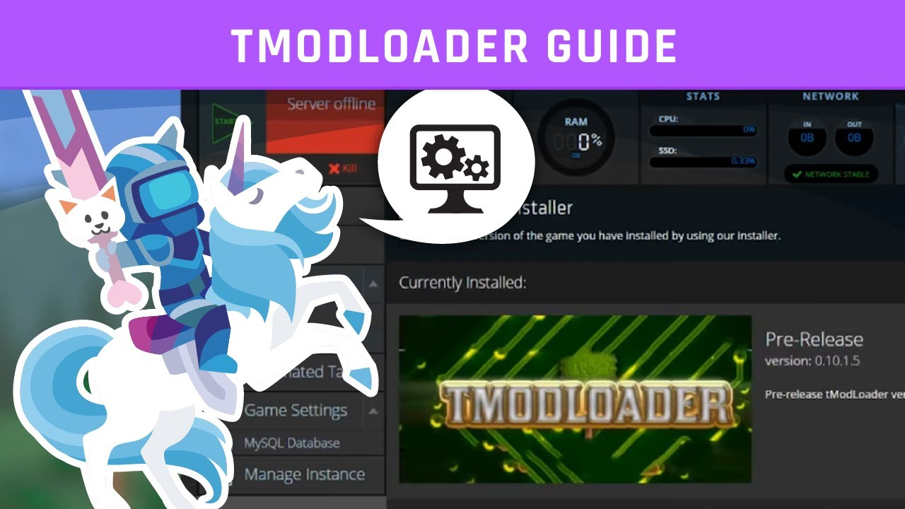 tModLoader Server Guide | Terraria | Knowledgebase Article