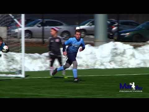 Dimitri Corba with the 2 goals for PDA soccer vs Red Bulls