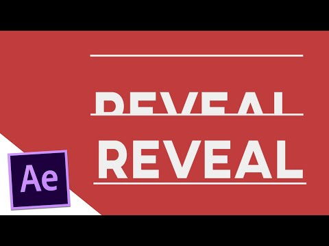 Revealing Text with Shapes - After Effects Tutorial
