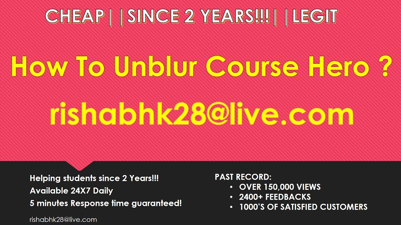 How to Unblur Course Hero Documents|SINCE 3 YEARS |Free Course Hero Account
