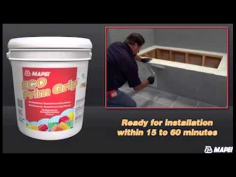 how to lay tile over tile with mapei eco prim grip tile primer youtube. Black Bedroom Furniture Sets. Home Design Ideas