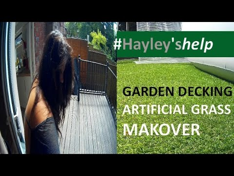 Garden decking makeover before and after installing my for Garden decking before and after