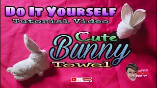 DIY | Do It Yourself: Bunny Towel | Rabbit Towel Folding - kaTUGSi Aihianne Tugas