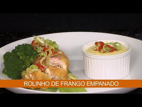 ROLINHO DE FRANGO EMPANADO