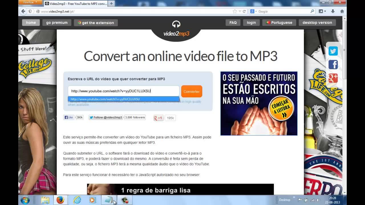 baixar video do youtube e converter pra mp3