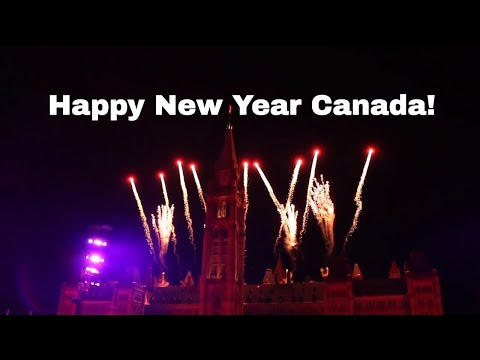 Ottawa New Years 2018 Fireworks